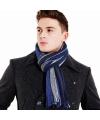 Heren college scarf blauw/grijs