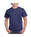 Korte mouwen T-shirt marineblauw voor volwassenen