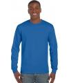 Kobalt blauw heren shirt met lange mouw