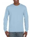 Lichtblauw heren shirt met lange mouw