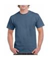 Korte mouwen T-shirt indigo blauw voor volwassenen
