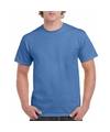 Korte mouwen T-shirt Iris blauw voor volwassenen