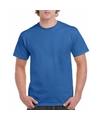 Korte mouwen T-shirt koningsblauw voor volwassenen