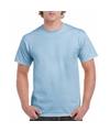 Korte mouwen T-shirt licht blauw voor volwassenen
