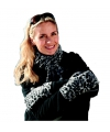 Luipaard print dames sjaal en handschoenen