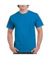 Korte mouwen T-shirt saffier felblauw voor volwassenen